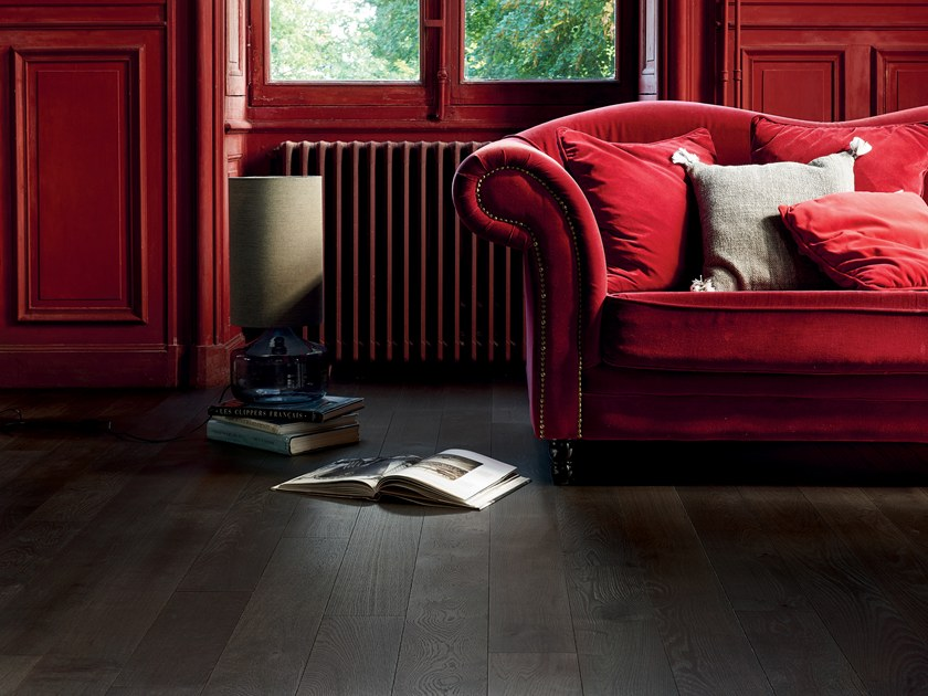 Engineered wood floor FRENCH OAK ZENITUDE TOURBE DIVA 139 by PANAGET
