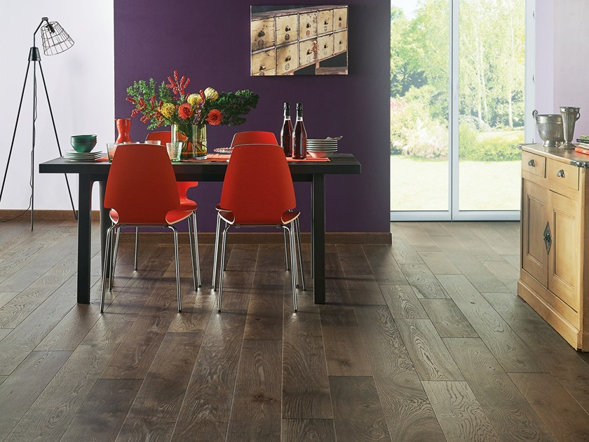 Engeneered wood floor FRENCH OAK ZENITUDE TOURBE DIVA 184 by PANAGET