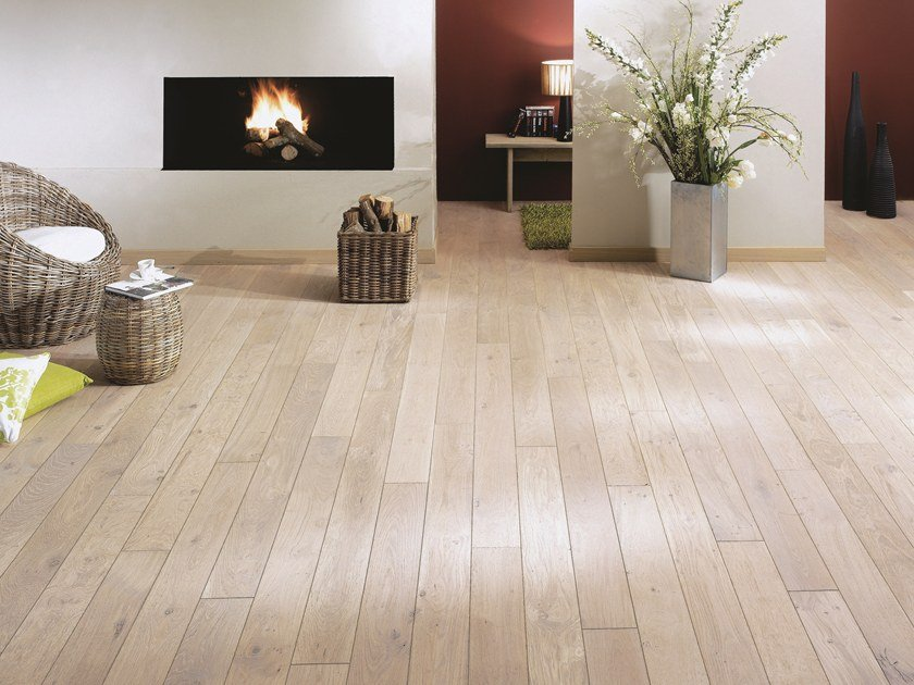 Solid wood floor FRENCH OAK ZENITUDE WHITE OIL SONATE 140 by PANAGET