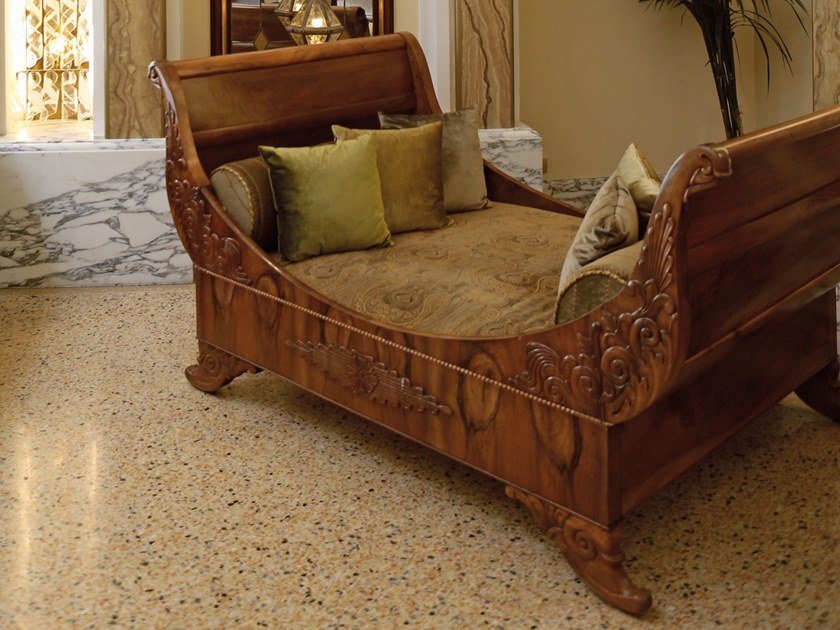 Dormeuse in legno FRENCH SLEIGH by Arnaboldi Interiors