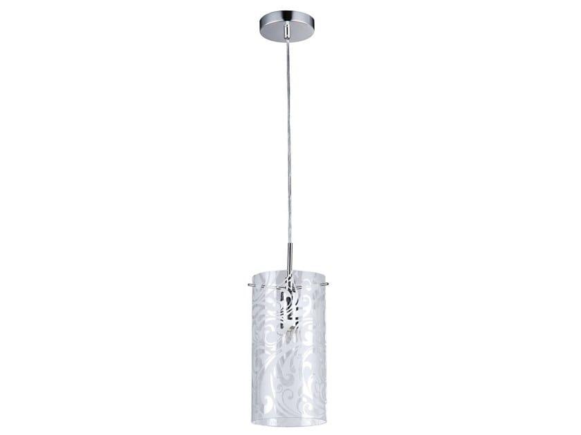 Sandblasted glass pendant lamp FRESH by MAYTONI