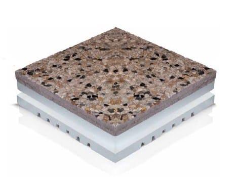 Pavimento termoisolante con pannello in eps e piastrella freshot