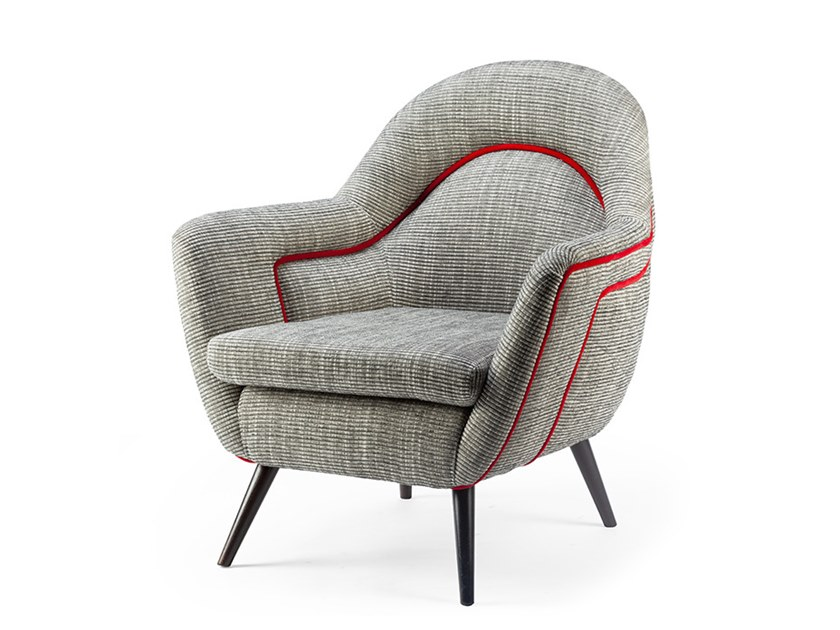 Fabric armchair with armrests FRIDA | Armchair by Mambo Unlimited Ideas