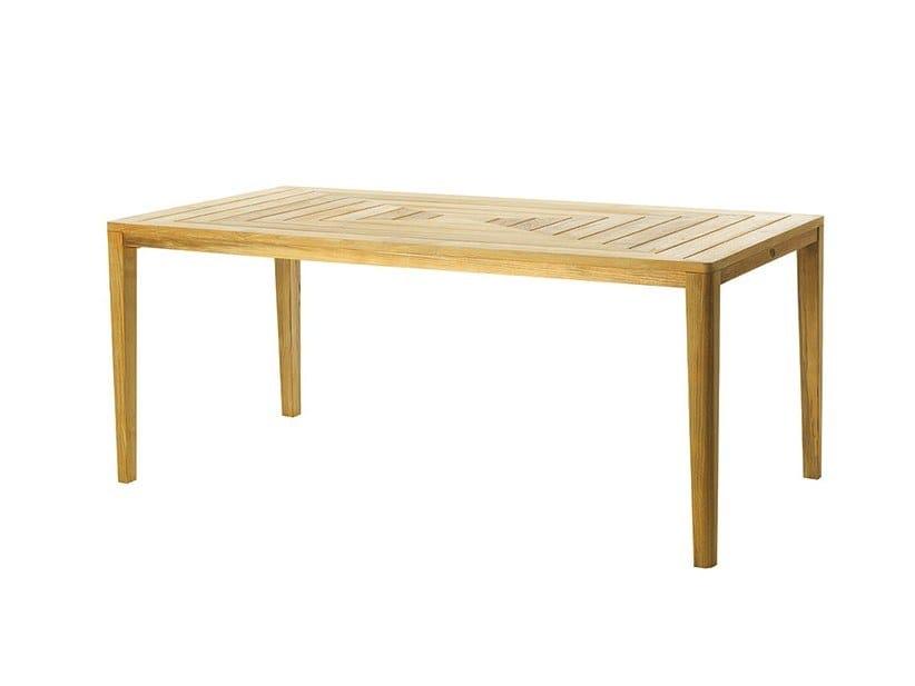 Rectangular wooden garden table FRIENDS | Rectangular table by Ethimo