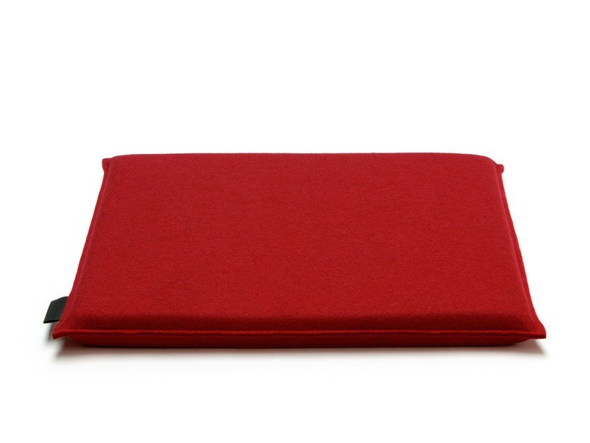 HEY SIGN FRISBEE | Square Cushion. Square Chair Cushion