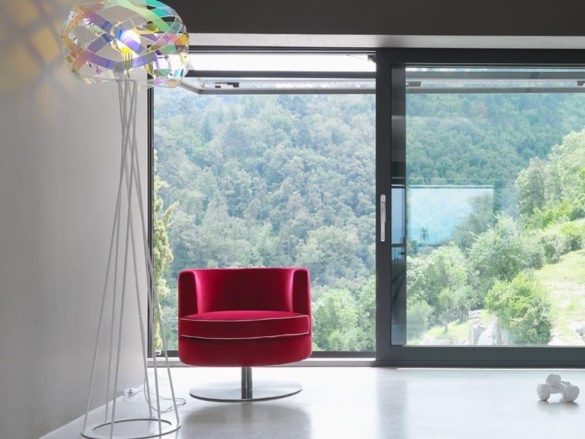 Swivel velvet easy chair FRISBEE | Velvet easy chair by Borzalino