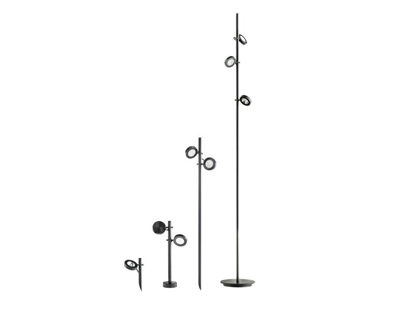 Lampada da terra per esterno a LED orientabile in alluminio verniciato a polvere FROG | Lampada da terra per esterno a LED by Platek