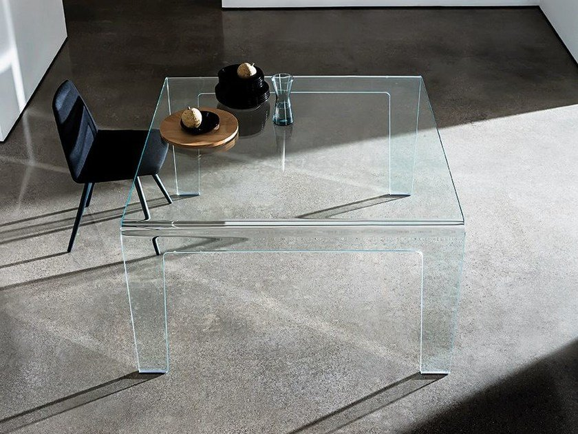Square glass table FROG | Table by Sovet italia