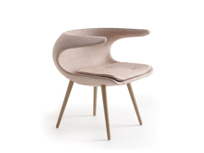 Fabric easy chair with armrests FROST | Fabric easy chair by Stouby