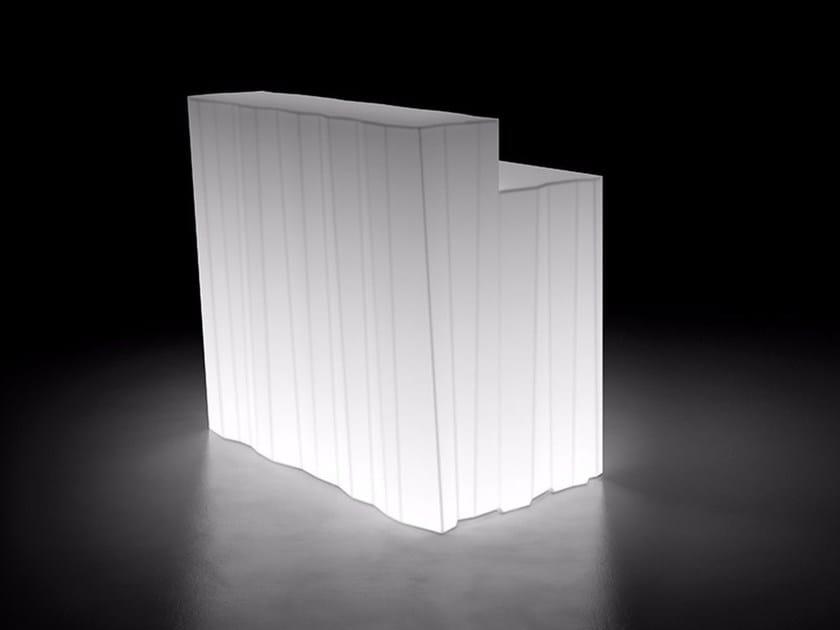 Illuminated bar counter FROZEN DESK LIGHT by Plust