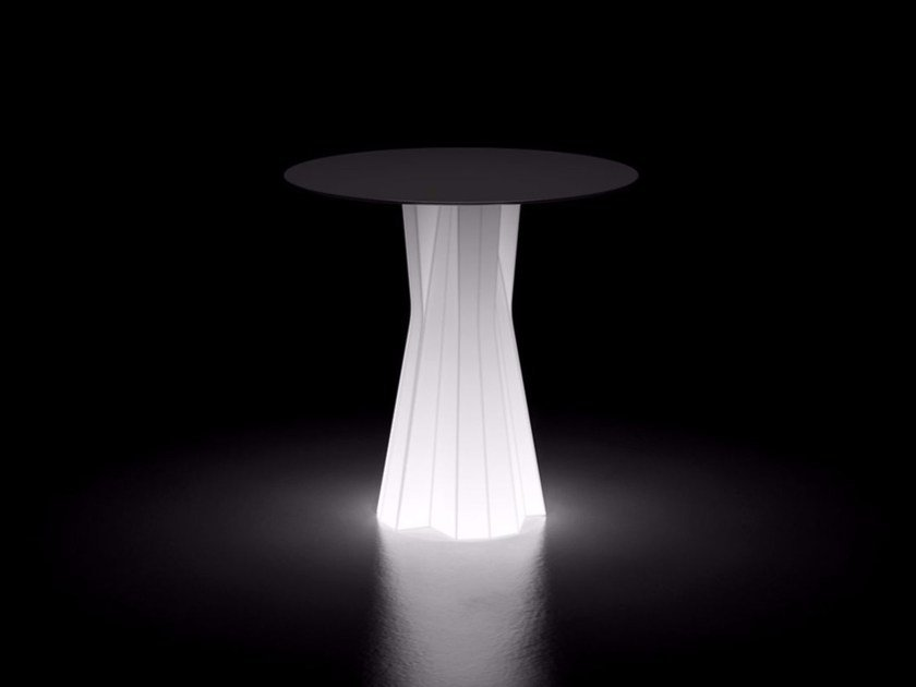 Contemporary style plastic table with light FROZEN DINING TABLE LIGHT by Plust
