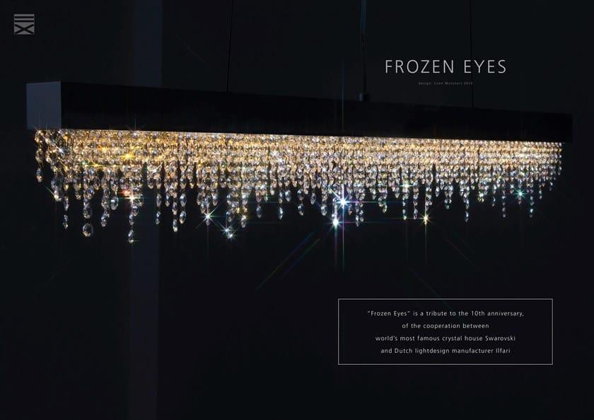 Sospensione Luce Cristalli Lampada Frozen In Hxl Ilfari A Metallo Con Swarovski® Cxl Diretta Eyes 08nwOvmN