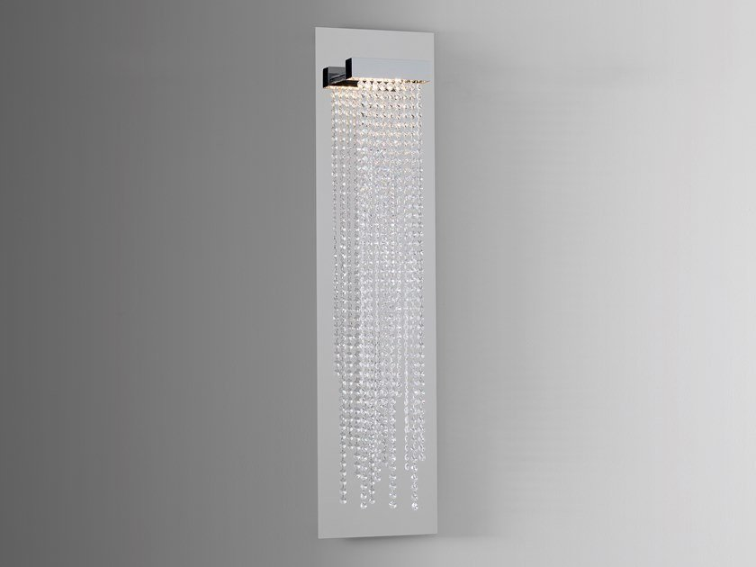 Direct light metal wall lamp with Swarovski® crystals FROZEN EYES W1 by ILFARI