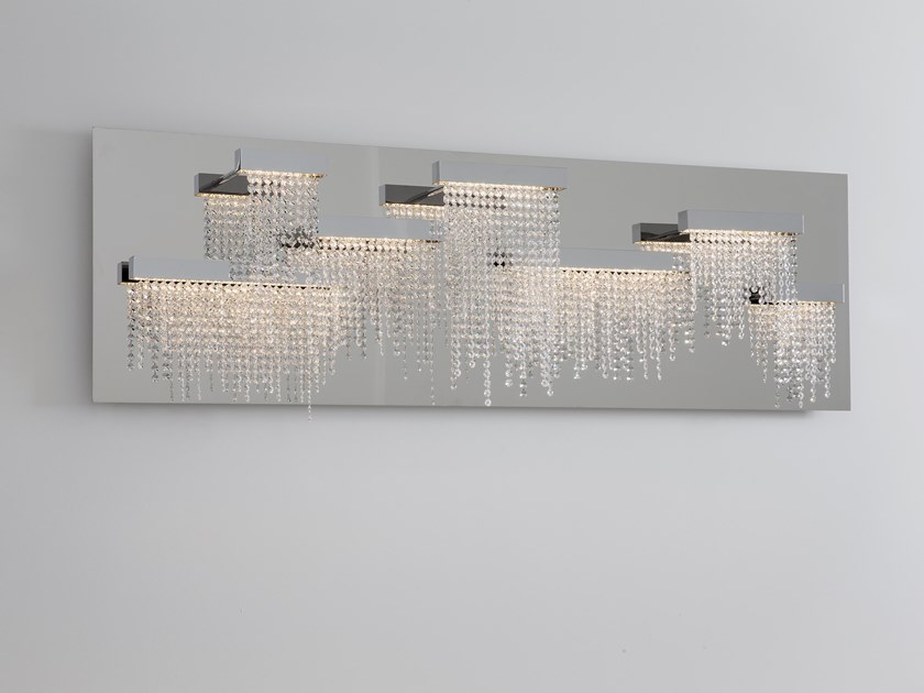 LED metal wall lamp with crystals FROZEN EYES W7 WALLPANEL by ILFARI