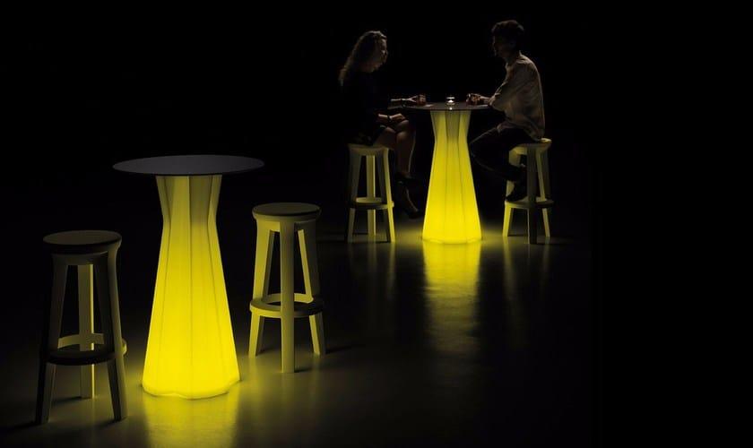 Table Plust In Luminoso Polietilene Tavolo Frozen Light kXP80wOn