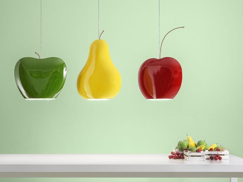 Ceramic pendant lamp FRUITS by Aldo Bernardi