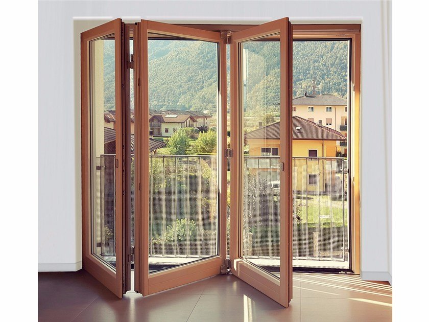 Folding sliding door FS FOLDING SLIDING DOOR by Alpilegno