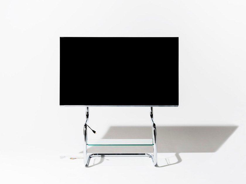 TV cabinet with cable management FSM | Steel TV cabinet by Zeitgeist