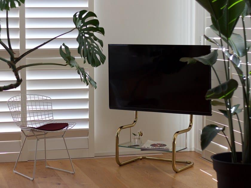Stainless steel TV cabinet FSM by Zeitgeist