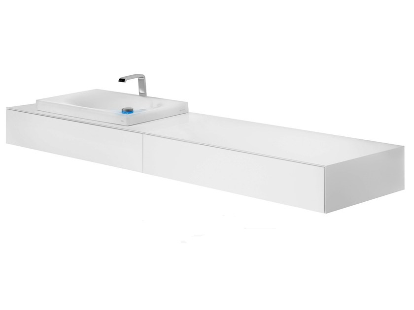 Lacquered wall-mounted vanity unit with drawers FU10650A-MW | Vanity unit with drawers by TOTO