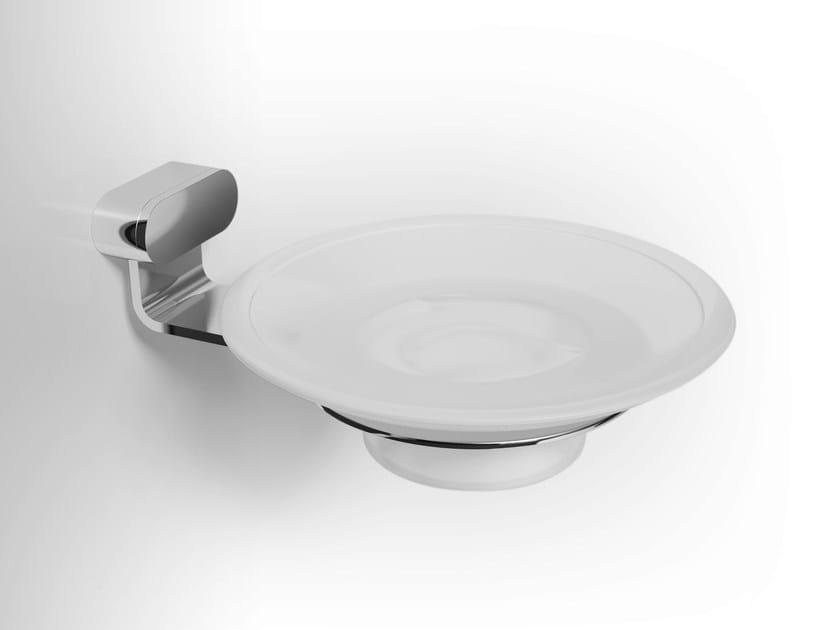 Wall-mounted glass soap dish FUCSIA | Glass soap dish by Alna