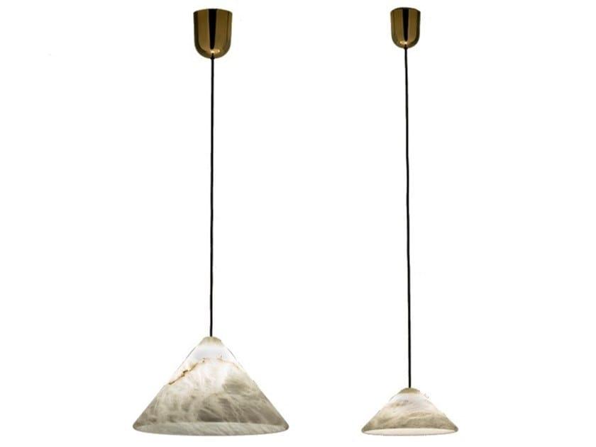 LED alabaster pendant lamp FUJI   Pendant lamp by Alma light