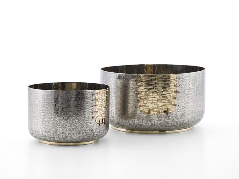 Bronze and brass centerpiece FUKUI by ZANETTO