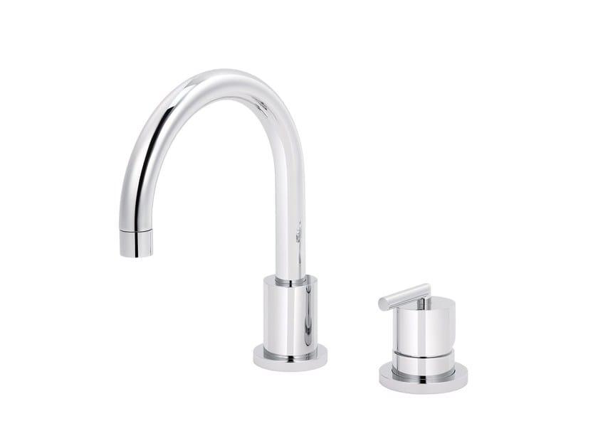 2 hole countertop single handle washbasin mixer FUN | 2 hole washbasin mixer by rvb