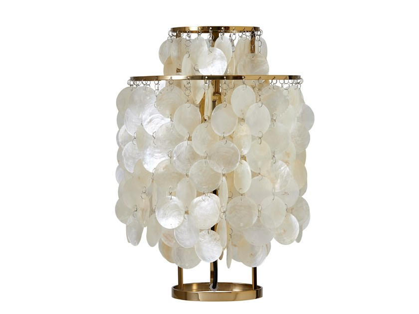 Mother of pearl table lamp FUN 2TM BRASS by Verpan