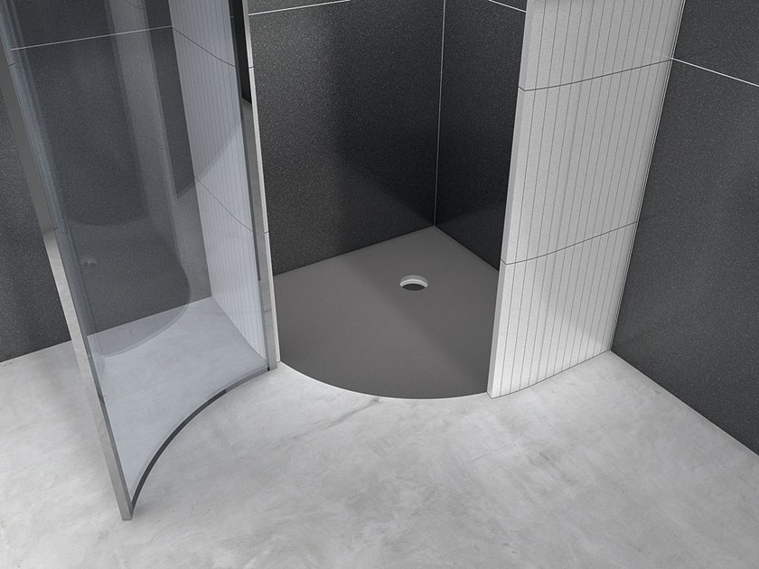 Corner built-in shower tray FUNDO BORGO by Wedi Italia