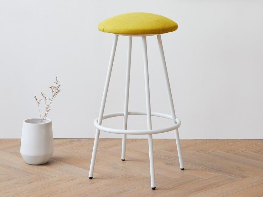 High fabric stool with footrest FUNGO | High stool by Grado Design
