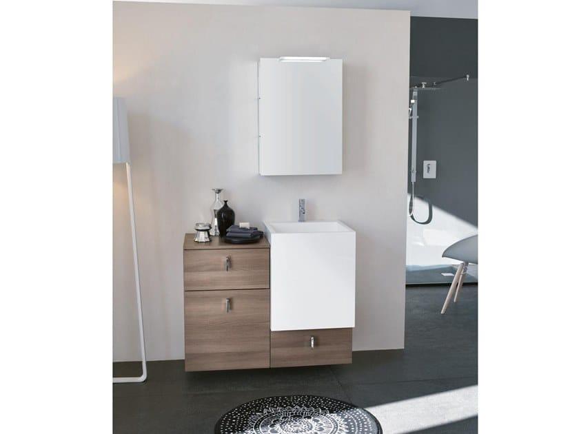 Mobile lavabo da terra con specchio FUNKY 04 by BMT