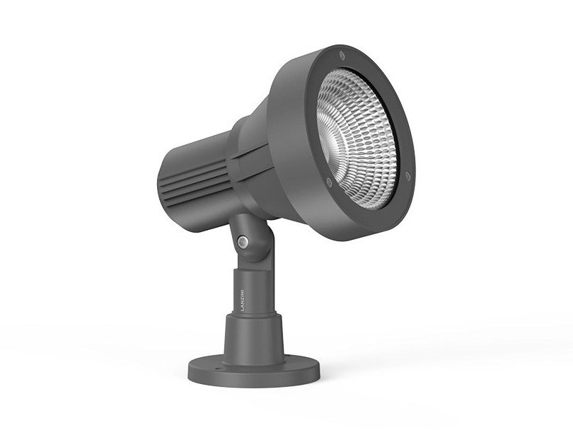 LED adjustable aluminium Outdoor floodlight FUNNEL by LANZINI
