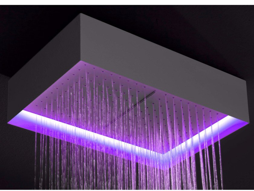 Ceiling mounted overhead shower FUORIMETEO by Antonio Lupi Design