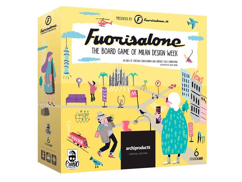 The Milan Design Week board game FUORISALONE | The board game by Archiproducts.com