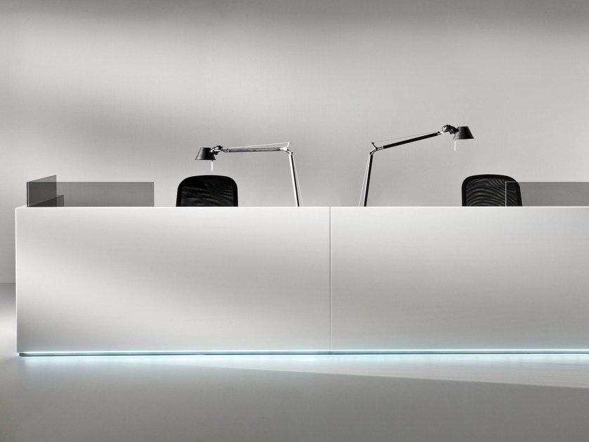 Modular Reception desk with Built-In Lights FURONTO | Reception desk by BALMA