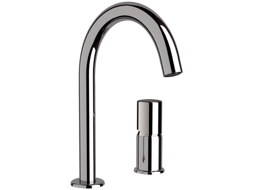 2 hole countertop single handle brass washbasin mixer FUSION | 2 hole washbasin mixer by Daniel Rubinetterie