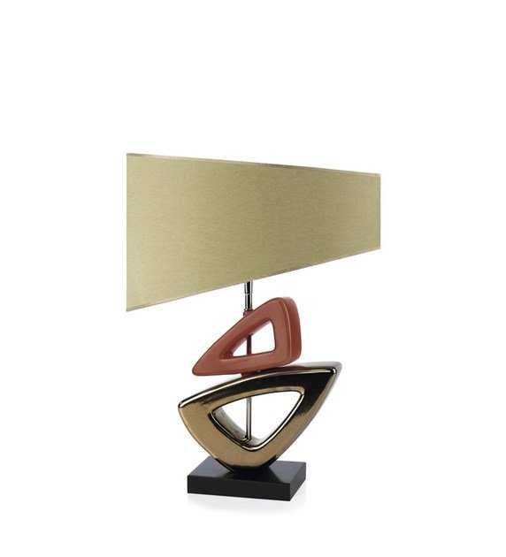 Contemporary style ceramic table lamp FUSION BL by ENVY