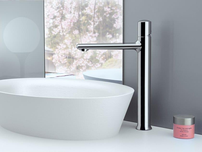 Countertop single handle brass washbasin mixer FUSION | Countertop washbasin mixer by Daniel Rubinetterie