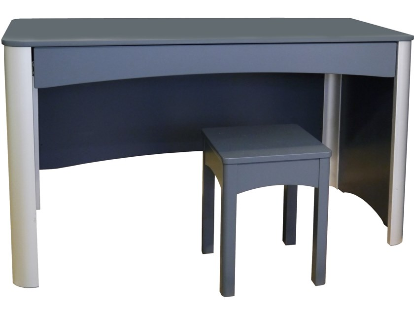 Lacquered Rectangular Kids Writing Desk With Drawers Fusion By Mathy Bols
