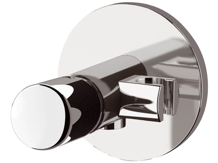 Recessed single handle brass shower mixer with plate FUSION | Single handle shower mixer by Daniel Rubinetterie