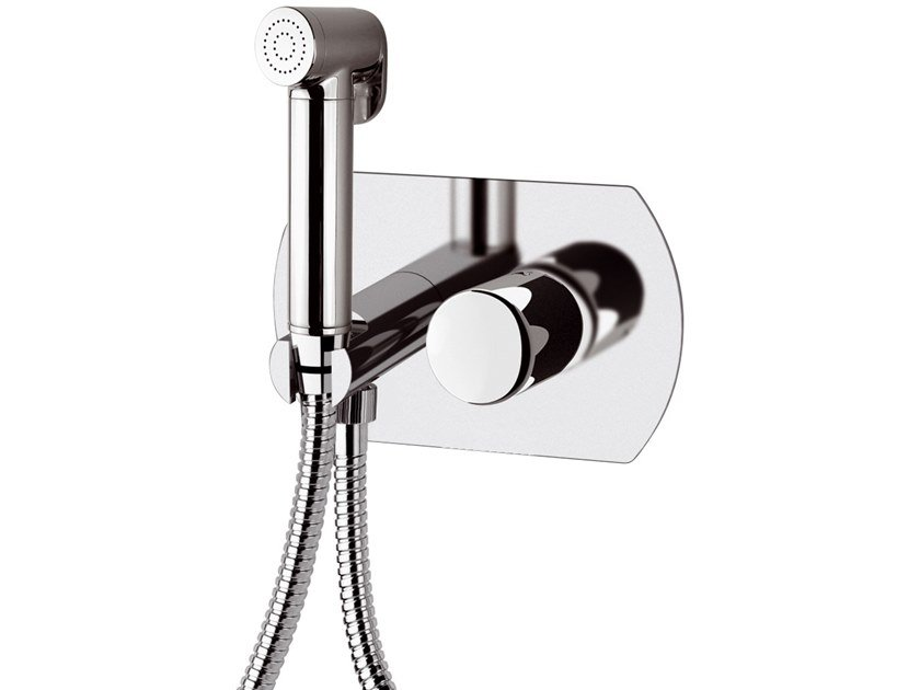 Single handle brass shower mixer with hand shower FUSION | Shower mixer with hand shower by Daniel Rubinetterie