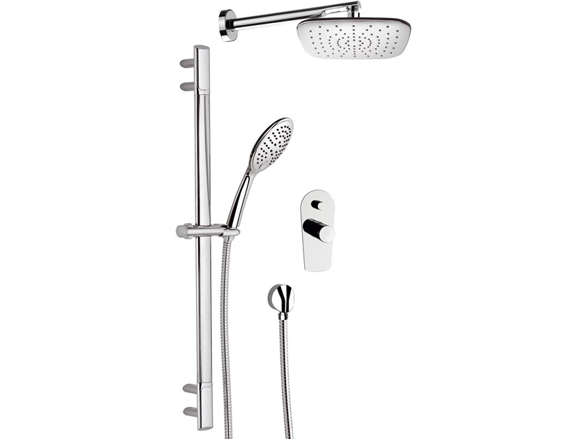 Single handle brass shower set FUSION | Shower set with hand shower by Daniel Rubinetterie