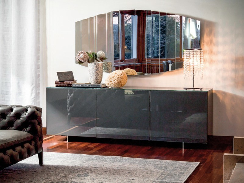 Glass sideboard with doors FUTURA by Cattelan Italia