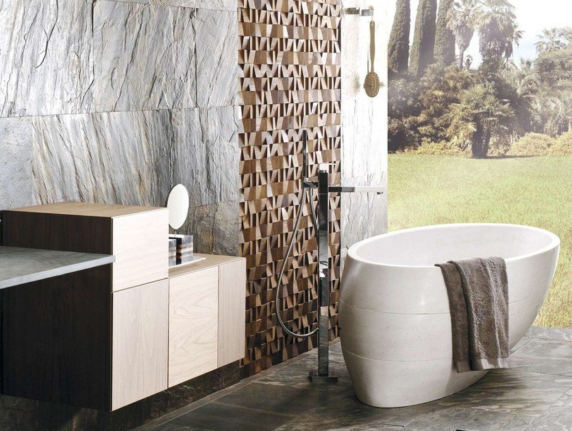 Freestanding oval natural stone bathtub FUTURE BIOPROT by L'antic Colonial