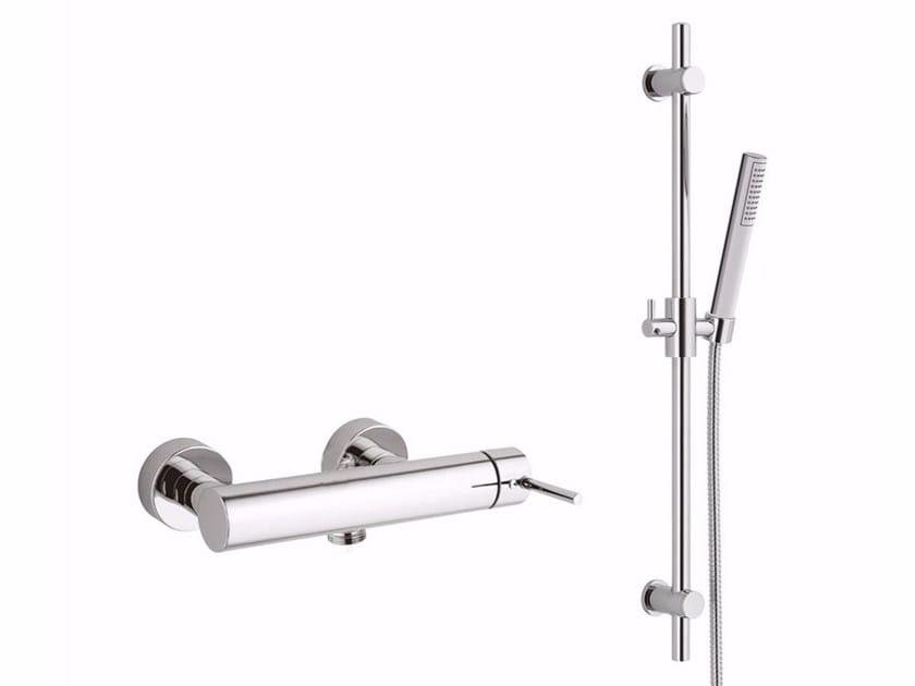 Single handle shower mixer with hand shower FUTURO - F6508-01WS by Rubinetteria Giulini