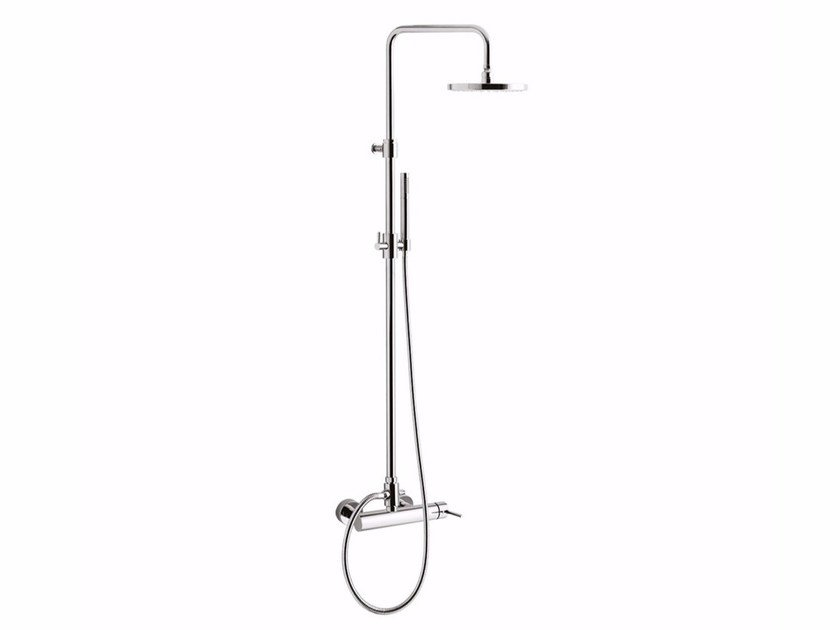 Wall-mounted shower panel with overhead shower FUTURO - F6508SWC-S by Rubinetteria Giulini