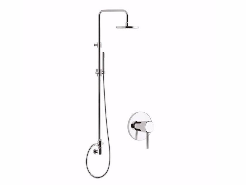 Wall-mounted shower panel with overhead shower FUTURO - F6515WC-S by Rubinetteria Giulini