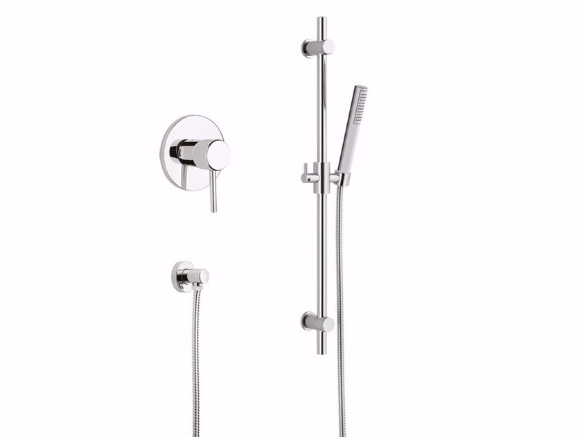 Single handle shower mixer with hand shower FUTURO - F6515WS by Rubinetteria Giulini