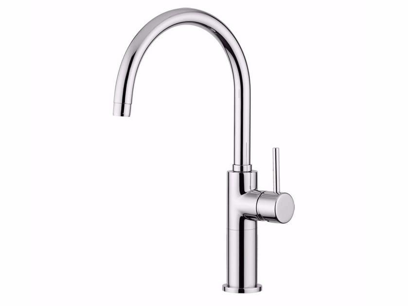 Countertop single handle washbasin mixer with adjustable spout FUTURO - F6582/SC by Rubinetteria Giulini